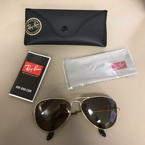 Authentic Ray-Ban Aviator Classic Sunglasses